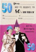 Jelly n Bean 50th Birthday Party Invitations - Pack of 20
